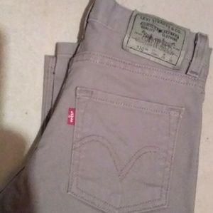 Boys Silver/grey Levi's 510 tab jeans
